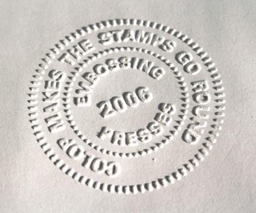 Πενσα αναγλυφοτυπίας διαμέτρου 41mm - Δείγμα